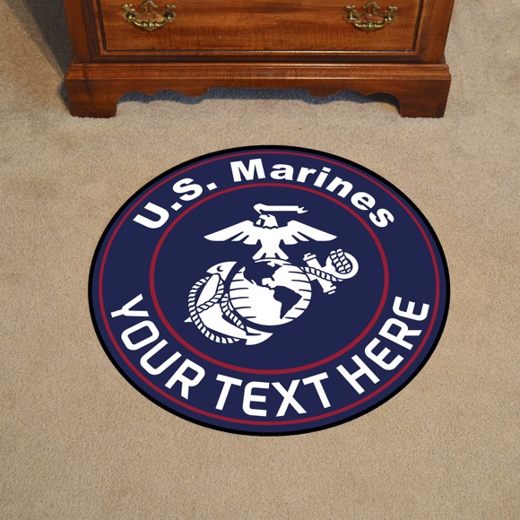 Picture of U.S. Marines Personalized Roundel Mat