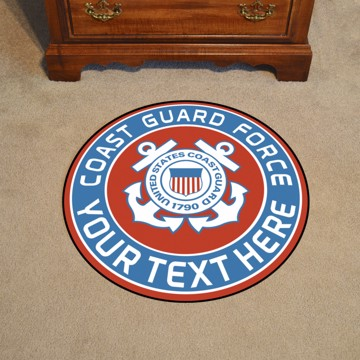 Picture of U.S. Coast Guard Personalized Roundel Mat