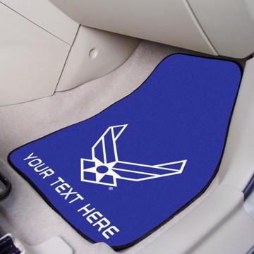 Picture of U.S. Air Force Personalized 2-pc Carpet Car Mat Set