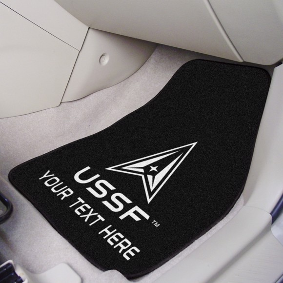 Picture of United States Space Force Personalized 2-pc Carpet Car Mat Set