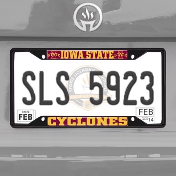 Picture of Iowa State University License Plate Frame - Black