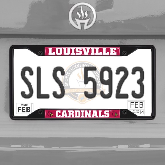 Picture of University of Louisville License Plate Frame - Black