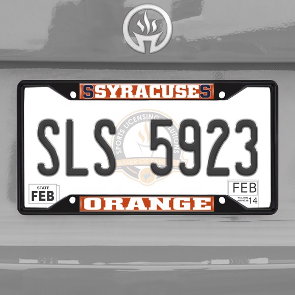 Picture of Syracuse University License Plate Frame - Black