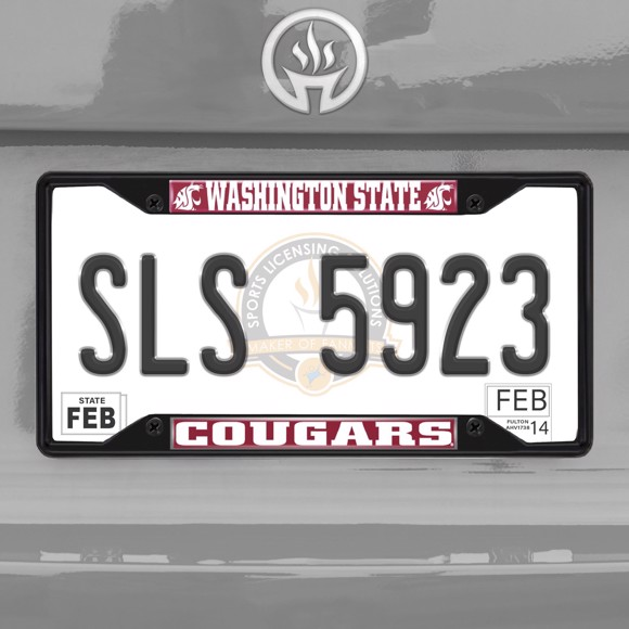 Picture of Washington State University License Plate Frame - Black
