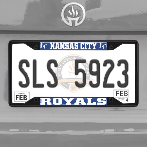 Picture of MLB - Kansas City Royals License Plate Frame - Black