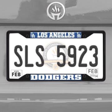 Picture of MLB - Los Angeles Dodgers License Plate Frame - Black