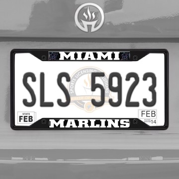 Picture of MLB - Miami Marlins License Plate Frame - Black