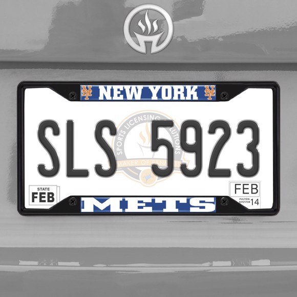 Picture of MLB - New York Mets License Plate Frame - Black
