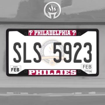 Picture of MLB - Philadelphia Phillies License Plate Frame - Black