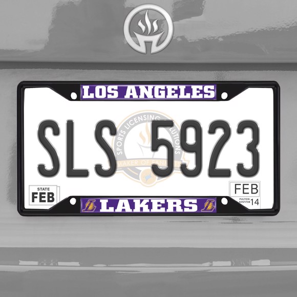 Picture of NBA - Los Angeles Lakers License Plate Frame - Black