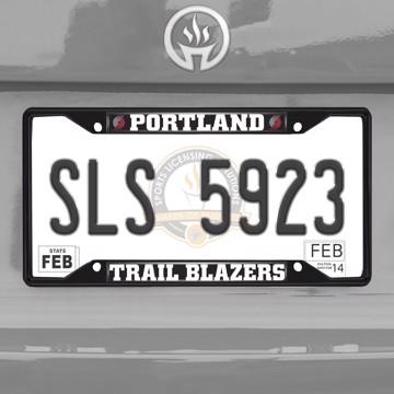 Picture of NBA - Portland Trail Blazers License Plate Frame - Black