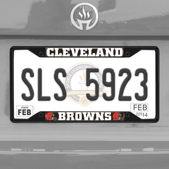 Picture of NFL - Cleveland Browns  License Plate Frame - Black