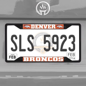 Picture of NFL - Denver Broncos  License Plate Frame - Black