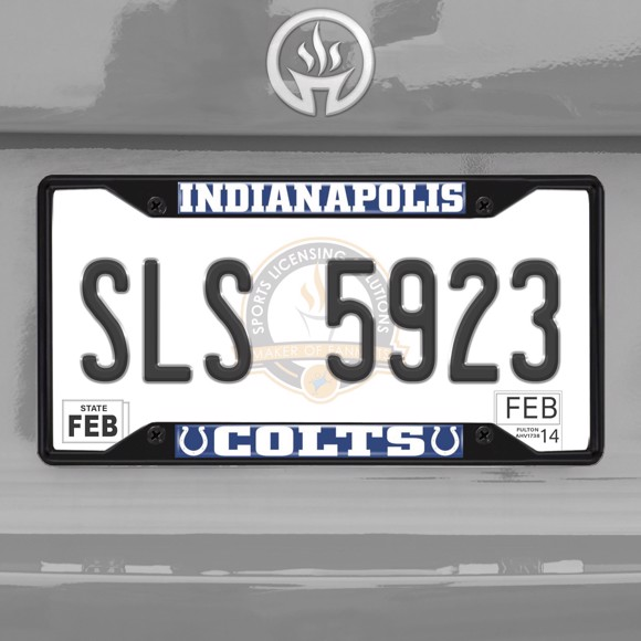 Picture of NFL - Indianapolis Colts  License Plate Frame - Black