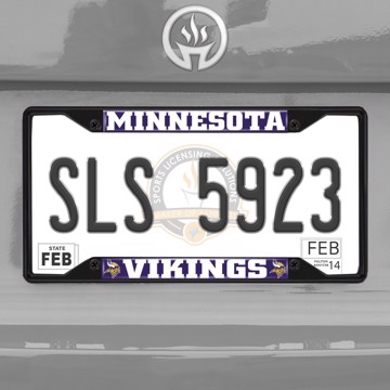 Picture of NFL - Minnesota Vikings  License Plate Frame - Black