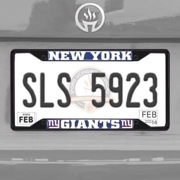 Picture of NFL - New York Giants  License Plate Frame - Black