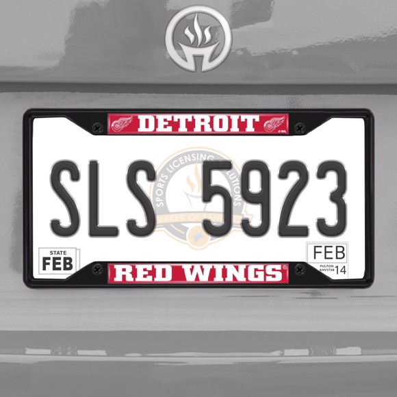 Picture of NHL - Detroit Red Wings License Plate Frame - Black