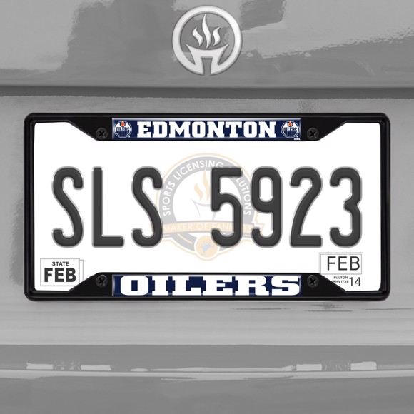 Picture of NHL - Edmonton Oilers License Plate Frame - Black