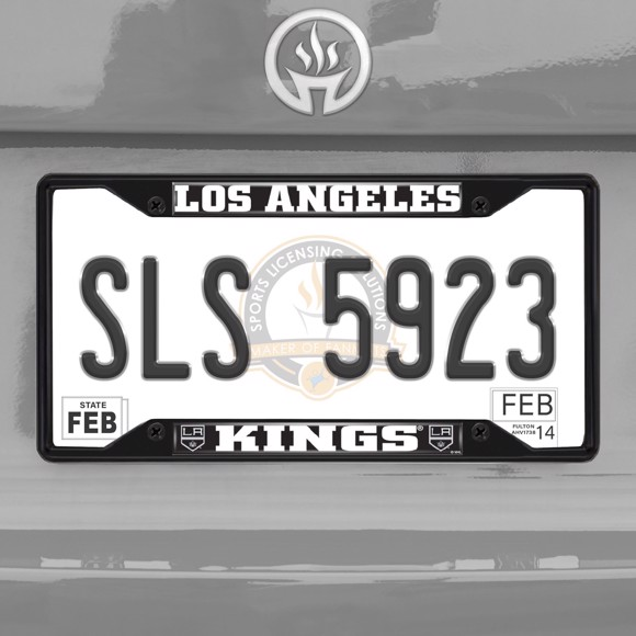 Picture of NHL - Los Angeles Kings License Plate Frame - Black