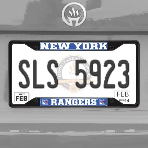 Picture of NHL - New York Rangers License Plate Frame - Black