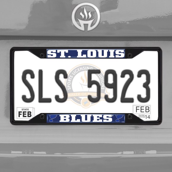 Picture of NHL - St. Louis Blues License Plate Frame - Black