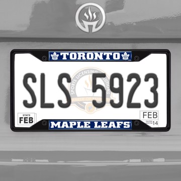 Picture of NHL - Toronto Maple Leafs License Plate Frame - Black