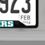 Picture of MLB - Texas Rangers License Plate Frame - Black