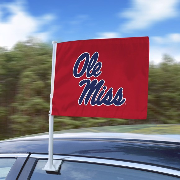 Picture of Ole Miss Car Flag