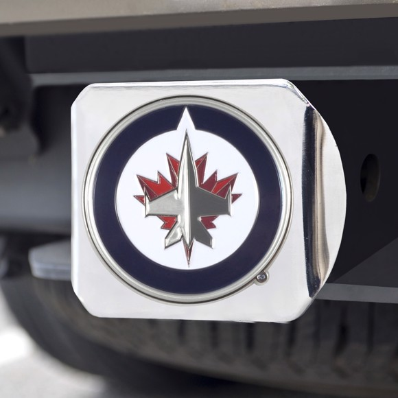 Picture of Winnipeg Jets Color Hitch Cover - Chrome