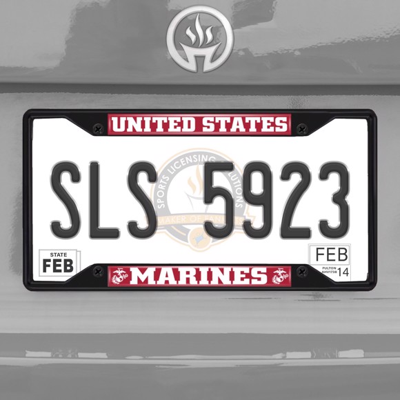 Picture of U.S. Marines License Plate Frame - Black