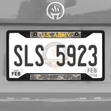 Picture of U.S. Army License Plate Frame - Black