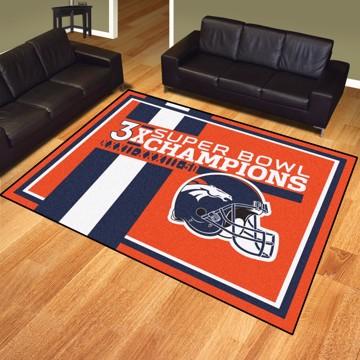 Picture of Denver Broncos Dynasty 8X10 Rug