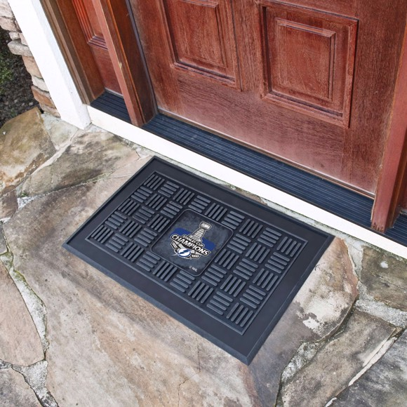 Picture of NHL - Tampa Bay Lightning 2021 Stanley Cup Champions Medallion Door Mat