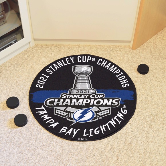 Picture of NHL - Tampa Bay Lightning 2021 Stanley Cup Champions Hockey Puck Mat