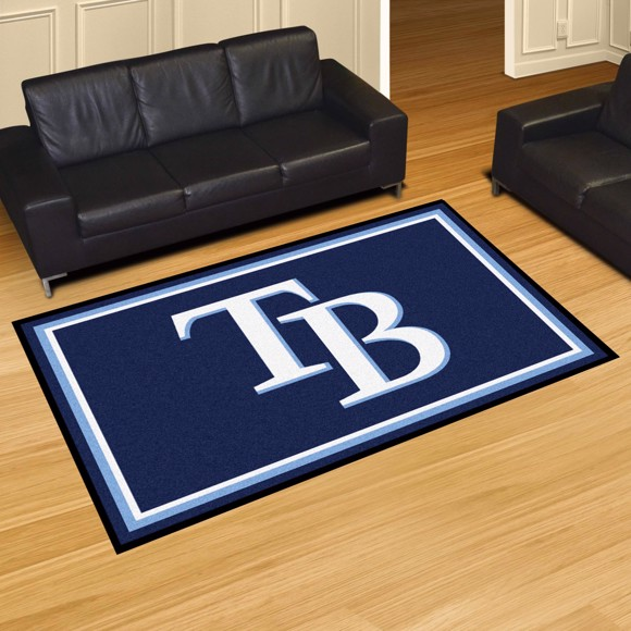 Picture of Tampa Bay Rays 5x8 Rug Alternate Logo