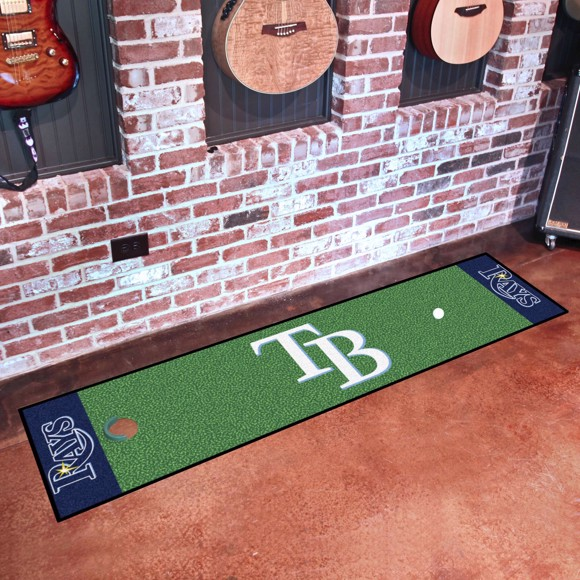 Picture of Tampa Bay Rays Putting Green Mat Alternate Logo