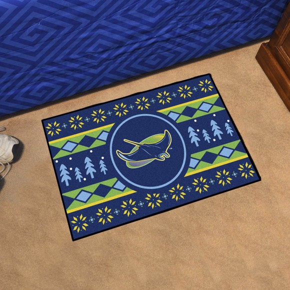 Picture of Tampa Bay Rays Holiday Sweater Starter Mat Alternate Logo