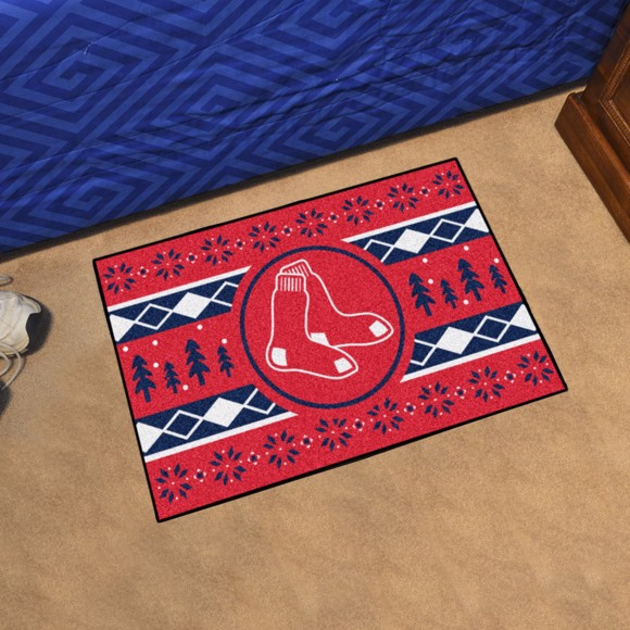 Picture of Boston Red Sox Holiday Sweater Starter Mat Alternate Logo