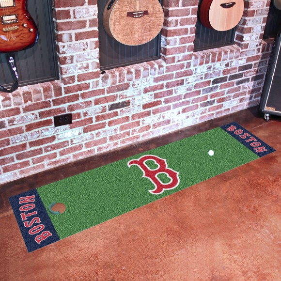 Picture of Boston Red Sox Putting Green Mat Alternate Logo