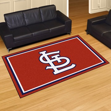 Picture of St. Louis Cardinals 5x8 Plush Rug