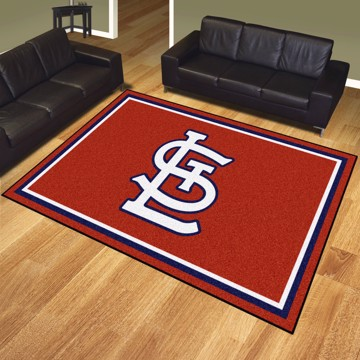 Picture of St. Louis Cardinals 8x10 Plush Rug