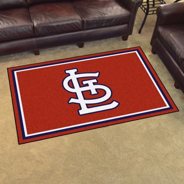 Picture of St. Louis Cardinals 4x6 Plush Rug