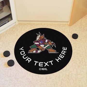 Picture of Arizona Coyotes Personalized Hockey Puck Mat Rug