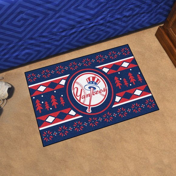 Picture of New York Yankees Holiday Sweater Starter Mat