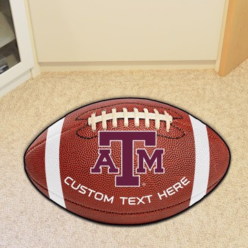 Picture of Personalized Texas A&M University Football Mat