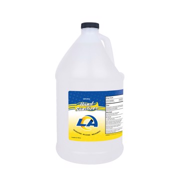 Picture of Los Angeles Rams 1-gallon Hand Sanitizer with Pump Top