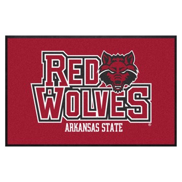 Picture of Arkansas State 4X6 High-Traffic Mat with Durable Rubber Backing
