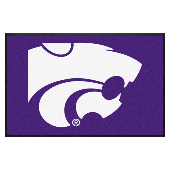 Picture of Kansas State4X6 High-Traffic Mat with Durable Rubber Backing