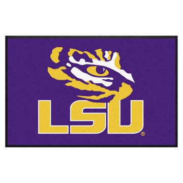 Picture of LSU 4X6 High-Traffic Mat with Durable Rubber Backing