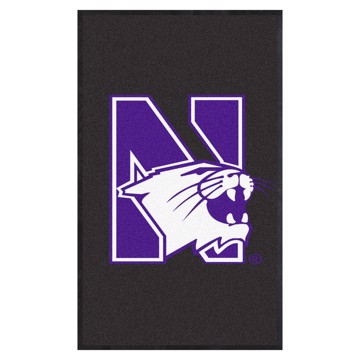 Picture of Northwestern 3X5 High-Traffic Mat with Durable Rubber Backing